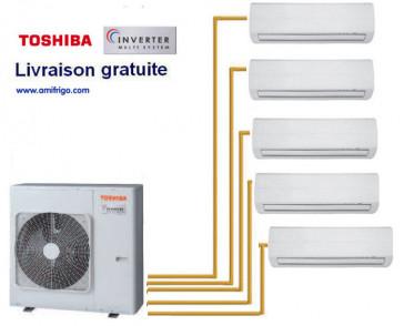 Toshiba  SKV 5-Split RAS-5M34UAV-E1 + 4 RAS-M10SKV-E + 1 RAS-M13SKV-E