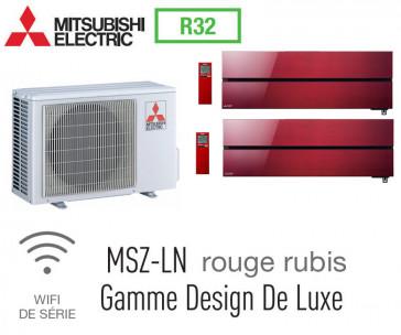 Mitsubishi Bi-split Mural Design De Luxe MXZ-2F53VF + 2 MSZ-LN25VGR - R32
