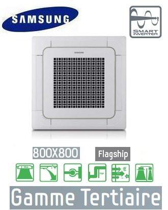 Samsung Cassette 4 voies 800 x 800 mm Flagship AC100FB4FEH + AC100FCAFEH
