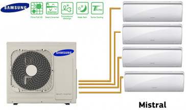 Samsung MISTRAL Quadri-Split AJ080FCJ4EH + 3 AR07FSFPDGMN + 1 AR12FSFPD(K)GMN