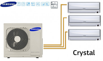 Samsung CRYSTAL Tri-Split AJ068FCJ3EH + 1 MH020FAEA   + 2 MH026FAEA