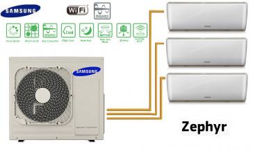 Samsung ZEPHYR Tri-Split AJ080FCJ4EH + 2 AR09FSSYAWTN + 1 AR12FSSYAWTN