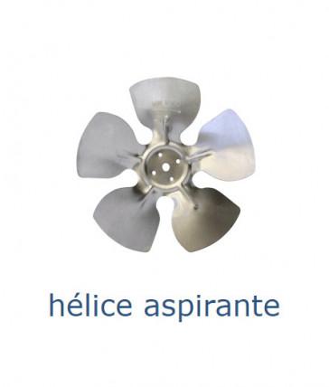 Hélice aluminium 200 mm - 28º - aspirante