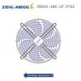 Ventilateur hélicoïde FN045-4EK.2F.V7P2 de Ziehl-Abegg