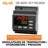 Régulateur deux étages ou zone neutre pour température, hygrométrie ou pression DR 4020 I R P - 90/240V de Eliwell