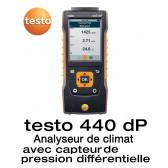 Testo 440 dP - Anémomètre multifonctions avec capteur de pression différentielle