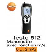 Testo 512 - Appareil de mesure de la pression différentielle, 0...2 hPa