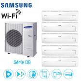 Samsung Série DB 5-Split  AJ100FCJ5EH + 4 AR07KSPDBWKN + 1 AR12KSPDBWKN