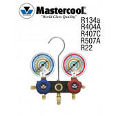 """Manometro - 2 Vannes, """"Mastercool"""" R410A, R407C et R22 sem mangueiras"""