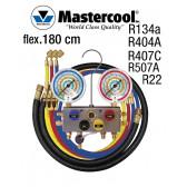 """Manifold 4 vannes à bille passage 3/8"""" - R134a, R404A, R407C, R22 et R507A de Mastercool"""