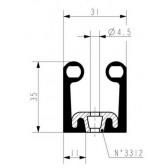 Gota de PORTA moldura preta 3530/511 - Rolo de 20 m