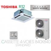 Toshiba Cassette 4-Voies 840X840 STANDARD SDI RAV-RM1101UTP-E monophasé