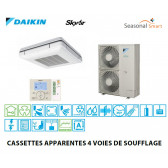 Daikin Cassette apparente à 4 voies de soufflage Seasonal Smart FUQ71C Triphasé