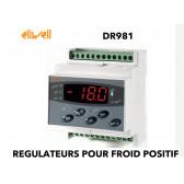 Régulateur un étage pour la température avec dégivrage naturel DR 981 PTC de Eliwell
