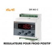 Régulateur un étage pour la température avec dégivrage naturel en Horloge Temps Réel,+ une sortie configurable (alarme etc..) DR 983 C PTC de Eliwell