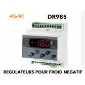 Régulateur un étage pour la température avec dégivrage électrique, contrôle de la ventilation et une sortie configurable (alarme etc..) DR 985 PTC de Eliwell