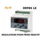 Régulateur un étage pour la température avec dégivrage naturel en Horloge Temps Réel,+ une sortie configurable (alarme etc..) et option TELEVIS - DR 985 LX CS MODBUS de Eliwell