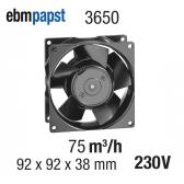 Axial fã EBMPAPST - 3650 modelo - 75 m3 / h