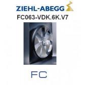 Ventilateur hélicoïde série FC - modèle FC063-VDK.6K.V7 de Ziehl-Abegg