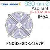 Ventilateur hélicoïde FN063-SDK.4I.V7P1 de Ziehl-Abegg