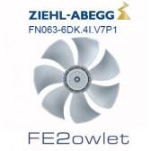 Ventilateur hélicoïde série FE2owlet modèle FN063-6DK.4I.V7P1 - Ziehl-Abegg