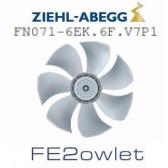 Ventilateur hélicoïde série FE2owlet modèle FN071-6EK.6F.V7P1 - Ziehl-Abegg