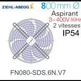 Ventilateur hélicoïde FN080-SDS.6N.V7 de Ziehl-Abegg
