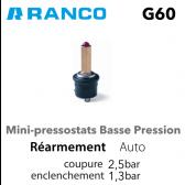 "Mini pressostato ""RANCO"" BP G60-H1101650"