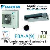 Daikin Plafonnier encastré gainable à PSE moyenne Advance FBA100A triphasé