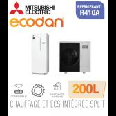 Ecodan duo 11 CHAUFFAGE SEUL + ECS 200L EHST20C-VM2D + PUHZ-SW100VAA