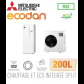 Ecodan duo 8 Eco Inverter CHAUFFAGE SEUL + ECS 200L EHST20D-VM2D + SUZ-SWM80VA