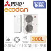 Ecodan duo 16 CHAUFFAGE SEUL + ECS 300L EHST30C-VM6ED + PUHZ-SW120VHA