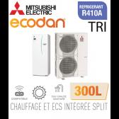 Ecodan duo 16 CHAUFFAGE SEUL + ECS 300L EHST30C-VM6ED + PUHZ-SW120YHA