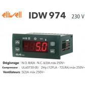 Regulador Eliwell IDW974 230V com 2 sondas NTC 1,5 mt