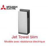Sèche-mains Jet Towel Slim Silver JT-SB216JSH2-S-NE avec Chauffage de Mitsubishi
