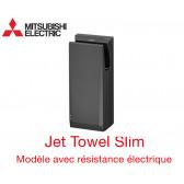 Sèche-mains Jet Towel Slim noir JT-SB216JSH2-H-NE avec Chauffage de Mitsubishi