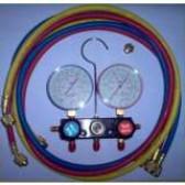 Manifold R410A, R404A, R407C com 2 conjuntos de flexível