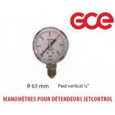 Manomètres de remplacement pour Détendeur Jet Control - 0 à 50 Bars