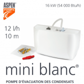 "Pompe d'évacuation des condensats Mini Blanc de ""Aspen Pumps"""