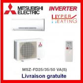 Mural réversible Inverter de luxe Mitsubishi MSZ-FD35VABH(S)