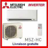 Mural réversible Inverter Mitsubishi MSZ-HC25VA