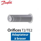 Orifice pour détendeur T 2/TE 2 Adaptateur à braser nº 02 Code 068-2092 Danfoss