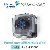 "Pressostato ""JOHNSON CONTROLS"" P233A-4-AAC"