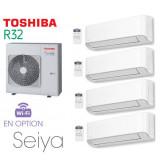 Toshiba Seiya Quadri-Split RAS-4M27U2AVG-E + 3 RAS-B05J2KVG-E + 1 RAS-B13J2KVG-E