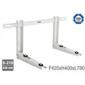 Support universel réglable pré-monté avec niveau jusqu'à 120 kg - 780 x 420 mm