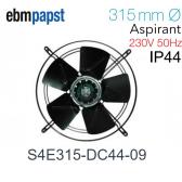 Ventilateur hélicoïde S4E315-DC44-09 de EBM-PAPST pour évaporateur ECO - Modèle DFE