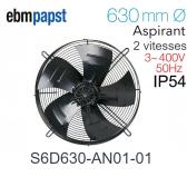 Ventilateur hélicoïde S6D630-AN01-01 de EBM-PAPST