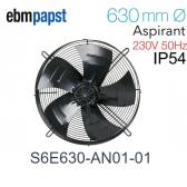 Ventilateur hélicoïde S6E630-AN01-01 de EBM-PAPST