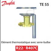 Elément thermostatique TEX 55 - 067G3205 - R22/R407C Danfoss