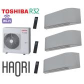 Toshiba HAORI Tri-Split RAS-4M27U2AVG-E + 2 RAS-B10N4KVRG-E + 1 RAS-B13N4KVRG-E